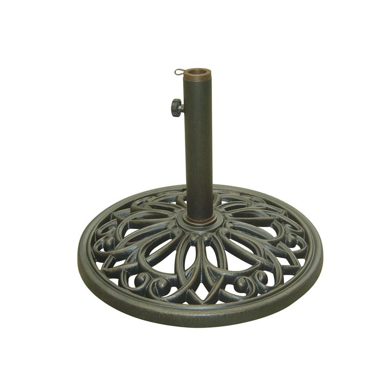 ornate base for umbrellas