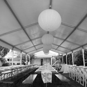 wedding pavilion at home