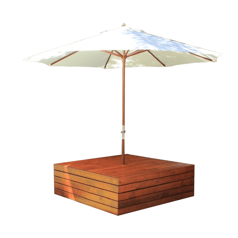 seating with umbrella