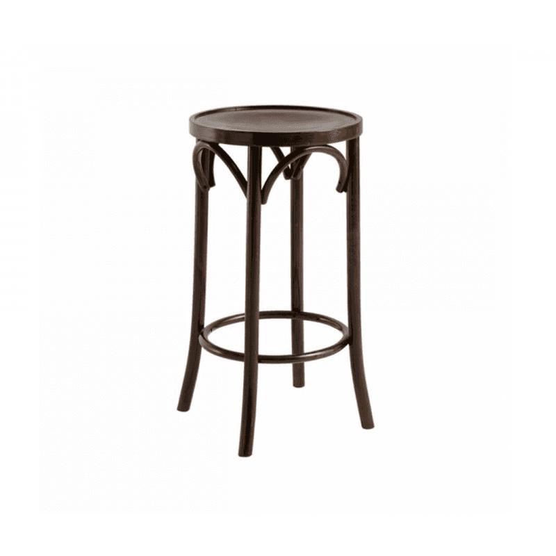 Bentood bar stool, walnut