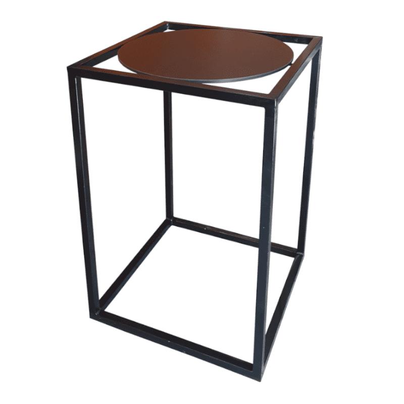 black and black bar table
