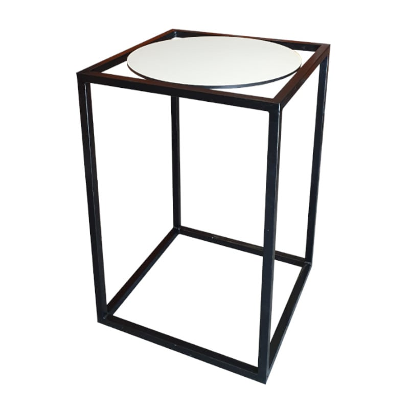 black and white bar table
