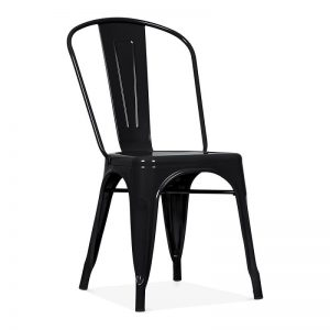 black metal rental chair