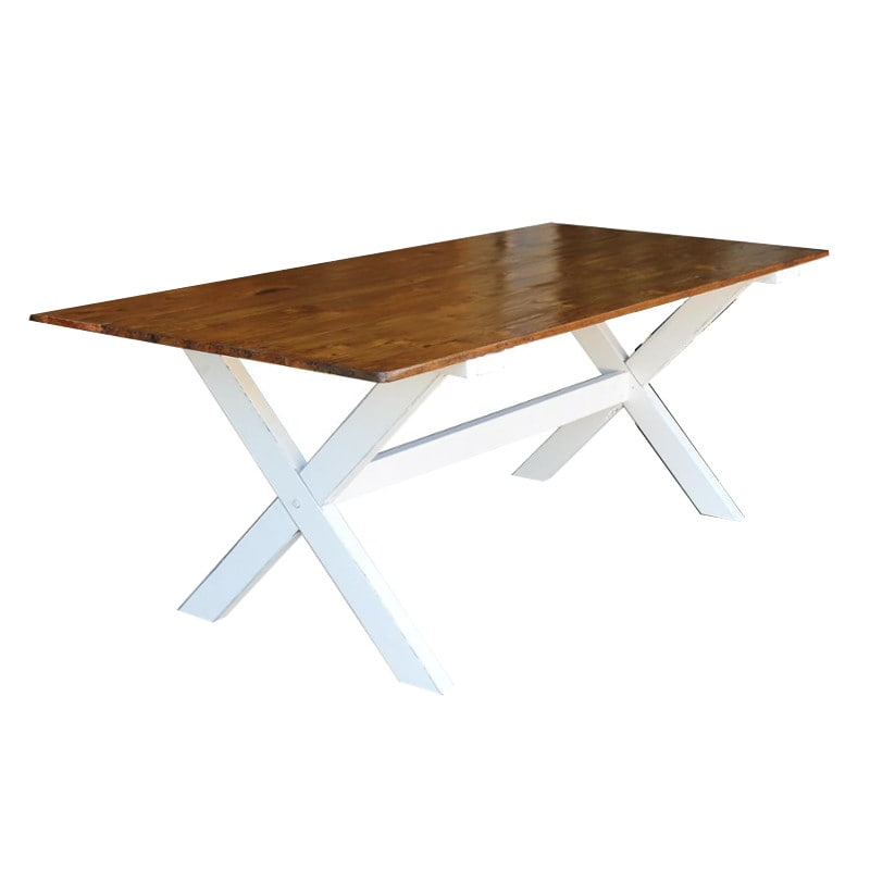 Harvest leg - dining table for hire Adelaide. Seats 10
