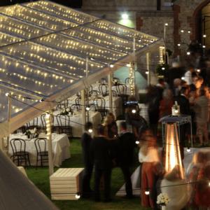 Wedding Hire Adelaide fairy light ceiling