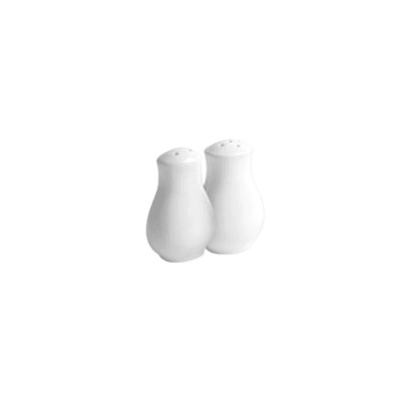crockery salt and pepper shakers