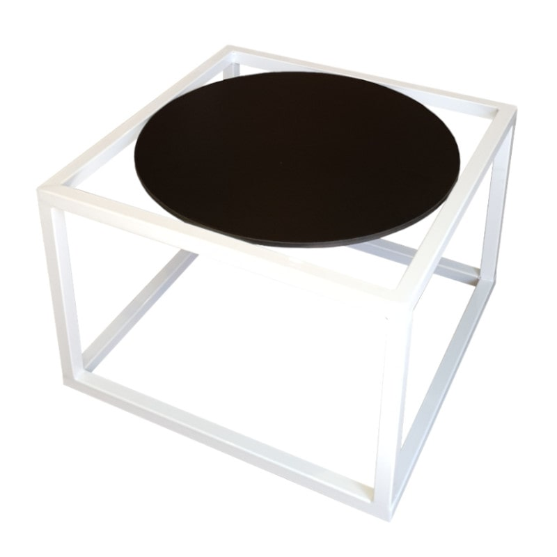 white and black lounge table
