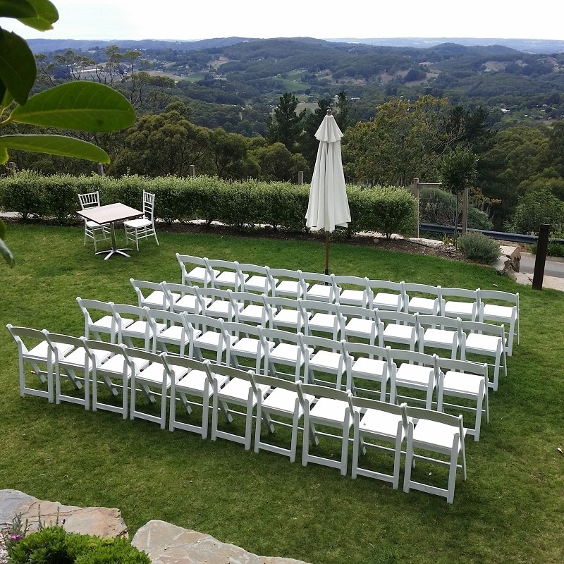 Wedding Hire Adelaide ceremony at Mount lofty house