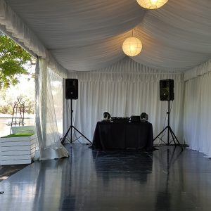 black dance floor and lining
