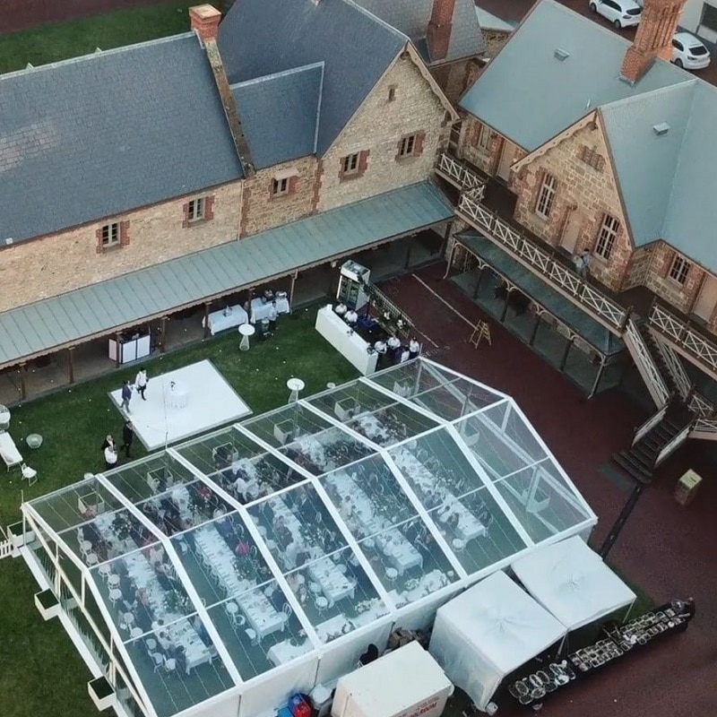 Pavilion Hire, Museum SA Marquee and Pavilion Hire For Weddings, Functions & Events Pavilion Hire Historic Museum white dance floor
