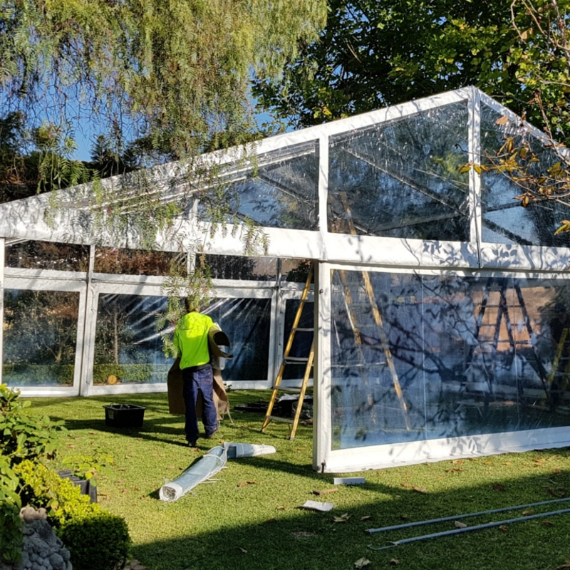Pavilion Hire marquee installation