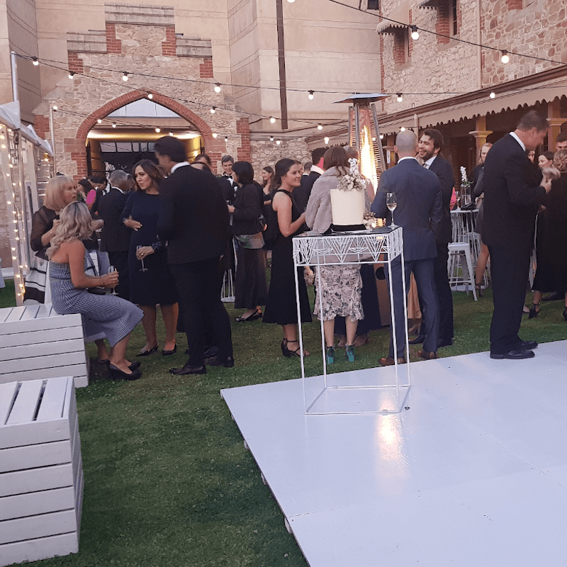 event hire Armory Lawns White dance floor