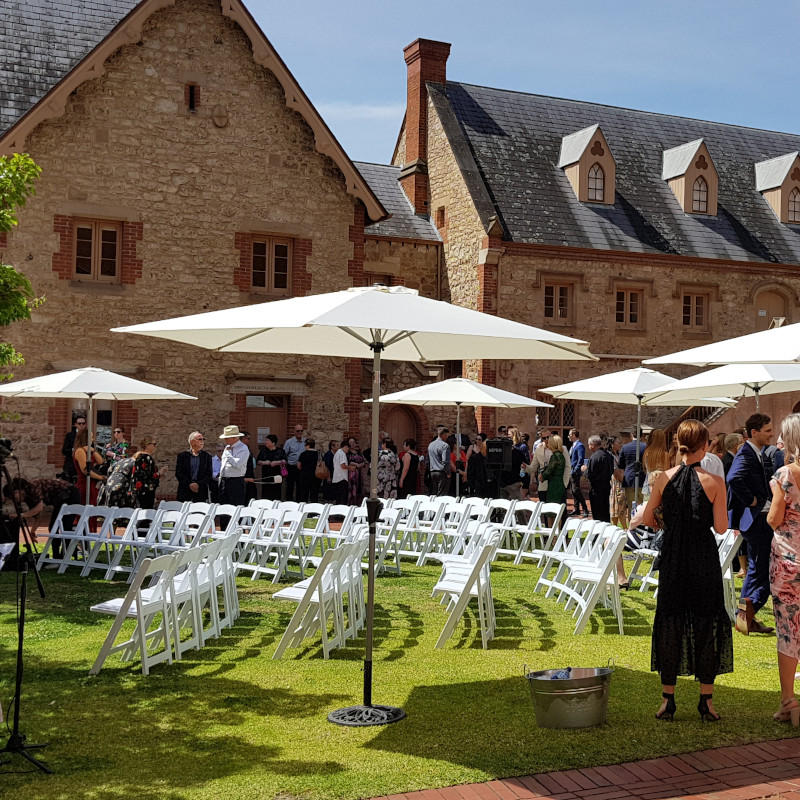 Marquee umbrellas Wedding Hire Adelaide