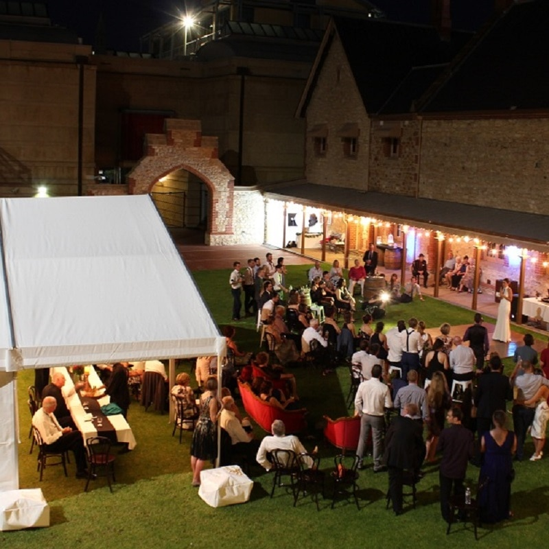 South Australian Museum wedding Wedding Hire Adelaide Armoury lawns bride