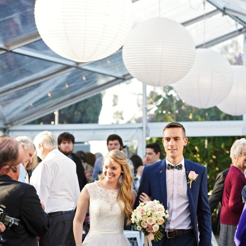 Clear pavilion Beaumont House marquee pad