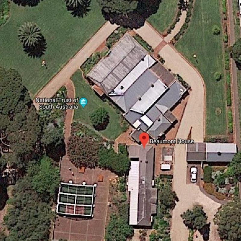 arial view of beaumont house