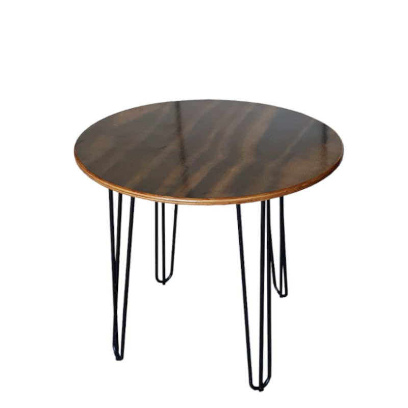 cafe table with hairpin legs