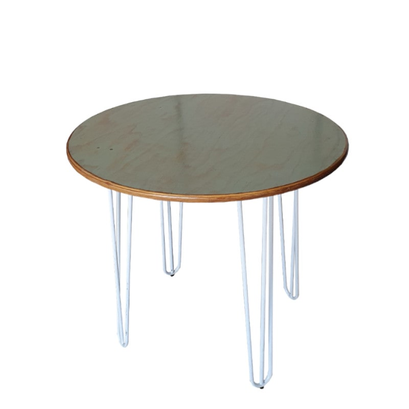 hairpin leg table in cafe size