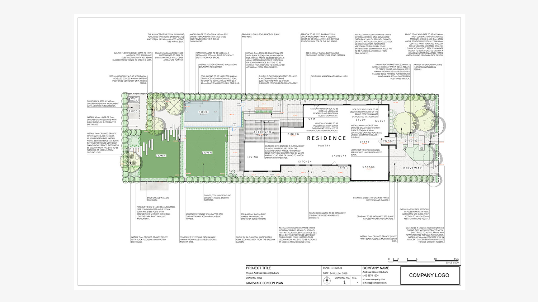 Sample Landscape Concept Plan